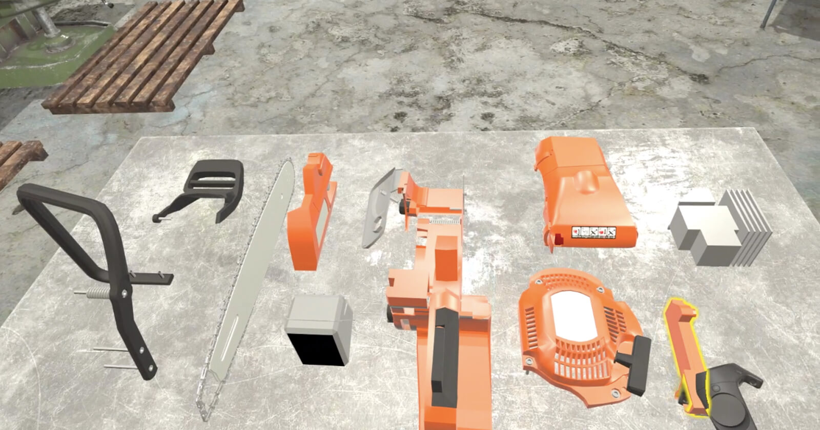 Chainsaw Assembly Simulation