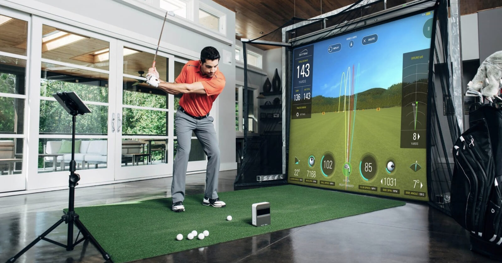 Case Study SkyTrak. How to Improve Golf Skills with Simulation Platform