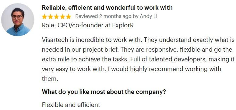 Visartech GoodFirms Review Game Development
