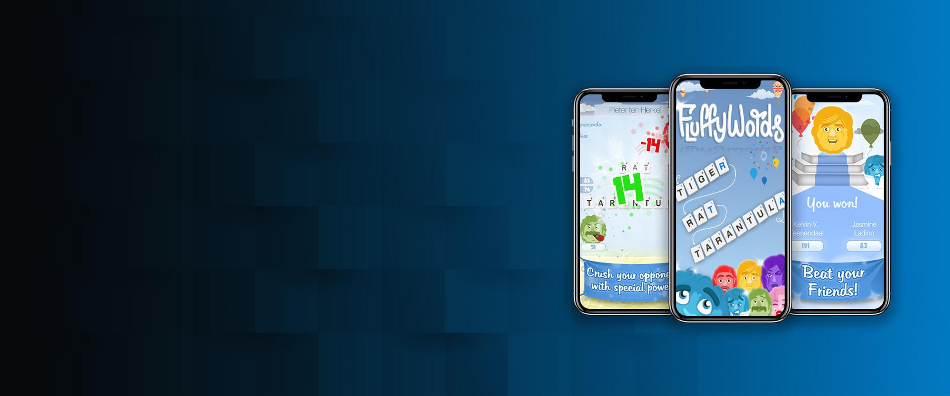 FluffyWords game app - Visartech Portfolio
